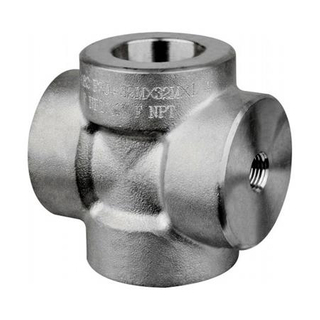 China Supplier Forged Fittings ASTM A182 F317L Stainless Steel Cross Male Female Thread ASME B16.11 DN80 3000LB