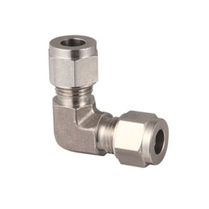 Dual Ferrules Union Elbow Compression Tube Fittings