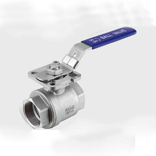 2PC Thread Ball Valve with Direct Mounting Pad (1000WOG)
