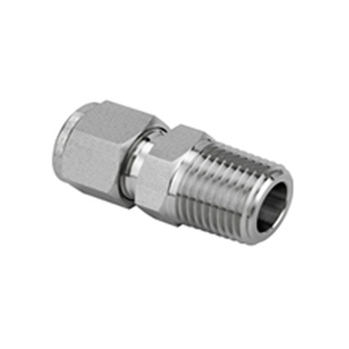 Stainless Steel Male Connector Compression Tube Fitting