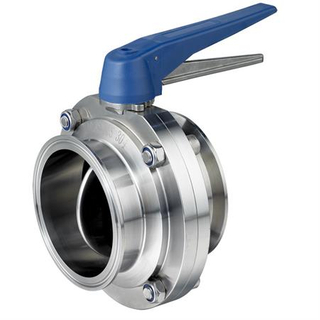 Clamped Butterfly Valve With Multiple-Position Handle